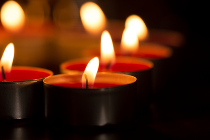 Close up of candles